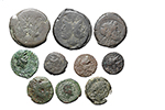 obverse:  Roman Republic. Lot of 10 AE with Magistrate s names, unclassified.