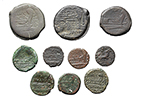 reverse:  Roman Republic. Lot of 10 AE with Magistrate s names, unclassified.
