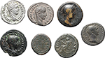 obverse:  Roman Empire. Lot of 7 coins from late 1st Cent AD. to mid 3rd Cent. AD.