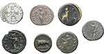 reverse:  Roman Empire. Lot of 7 coins from late 1st Cent AD. to mid 3rd Cent. AD.