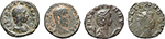 obverse:  Roman Empire. Lot of 4 AE: Julia Domna, Macrinus, Gallienus and Salonina.