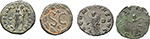 reverse:  Roman Empire. Lot of 4 AE: Julia Domna, Macrinus, Gallienus and Salonina.
