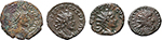 obverse:  Roman Empire. Lot of 2 AE Antoniniani of Tetricus I and Tetricus II and 2 \