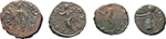 reverse:  Roman Empire. Lot of 2 AE Antoniniani of Tetricus I and Tetricus II and 2 \