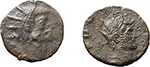 obverse:  Roman Empire. Lot of 2 Radiate AE of Consecratio, unclassified.