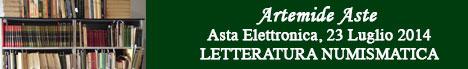 Banner Artemide Aste - 27.2E Libri e letteratura numismatica
