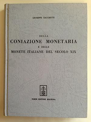 obverse image:  SACCHETTI, G. Della coniazione monetaria e delle monete italiane del secolo XIX.