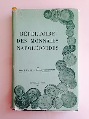 obverse image:  DE MEY, J. & POINDESSAULT, B. Répertoire des monnaies napoléonides.