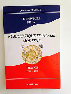 obverse image:  LECONTE, J.-M. Le bréviaire de la numismatique francaise moderne. France 1791-1997.