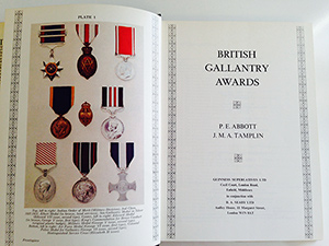 obverse image:  ABBOTT, P.E. & TAMPLIN J.M.A.  British gallantry awards.