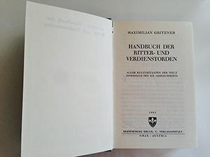 obverse image:  GRITZNER, M. Handbuch der Ritter- und Verdienstorden. Aller Kulturstaaten der Welt innerhalb des XIX Jahrhunderts.