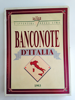 obverse image:  L AVVENTURA DELLA LIRA. Banconote d Italia. Brossura e 15 inserti.