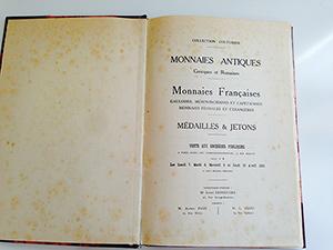 obverse image:  CIANI, M.L. Collection Couturier. Monnaies antiques. Monnaies françaises. Medailles & jetons.