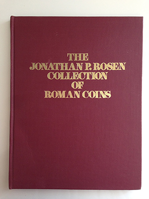 obverse image:  MYERS/ADAMS. The Jonathan P. Rosen Collection of Roman coins. Auction 7, New York, 19-20 April 1974. tavole  in b/n, 1 tav. a colori.