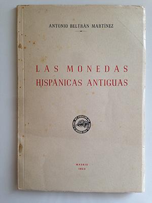 obverse image:  BELTRAN MARTINEZ, A. Las monedas hispanica antiguas.