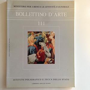 obverse image:  BOLLETTINO D ARTE. Fascicolo 111.