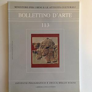 obverse image:  BOLLETTINO D ARTE. Fascicolo 113.