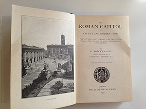 obverse image:  RODOCANACHI, E. The Roman Capitol in ancient and modern times. Translated by F. Lawton.
