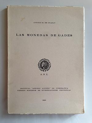 obverse image:  DE GUADAN, A.M. Las monedas de Gades.