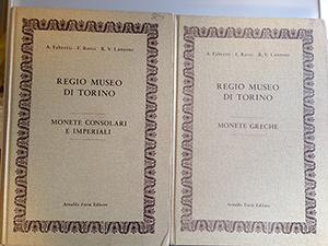 obverse image:  FABRETTI, A., ROSSI, F. & LANZONE, R.V. Regio Museo di Torino. Monete greche. Monete consolari e imperiali. Due volumi.