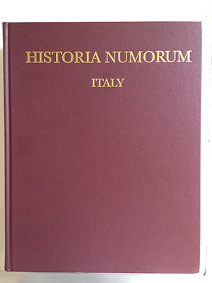 obverse image:  RUTTER, N.K.  Historia Nummorum. Italy. The British Museum Press, 2001. In-8, 223 pp, 4 mappe, 43 tavole fuori testo.