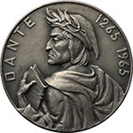 obverse:  Dante Alighieri (1265-1321) Medaglia