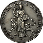 reverse:  Dante Alighieri (1265-1321) Medaglia