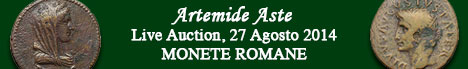 Banner Artemide - Asta di monete romane