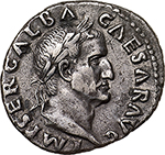 obverse: Galba (68-69).  AR Denarius, July 68- January 69 AD. Rome mint. Obv. IMP SER GALBA CAESAR AVG. Laureate head right. Rev. VICTORIA PR. Victory standing left on globe, holding wreath and palm. RIC 217 var. (bust). AR. g. 3.33  mm. 19.40  RR.  About EF/Good VF.