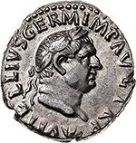 obverse: Vitellius (69 AD).  AR Denarius. Obv. A VITELLIVS GERM IMP AVG TR P.  Laureate head right. Rev. LIBERTAS RESTITVTA. Libertas, standing facing, head right, holding pileus and rod. RIC 105. AR. g. 3.24  mm. 18.50  R.  EF/About EF. In exceptional condition, lustrous.