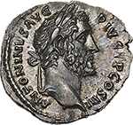 obverse: Antoninus Pius (138-161).  AR Denarius, 140-143 AD. Obv. ANTONINVS AVG PIVS PP COS III. Laureate head right. Rev. PAX AVG. Pax standing left, holding branch and cornucopiae. RIC 78 (c). AR. g. 3.16  mm. 18.50    FDC. Enchanting light iridescent tone and virtually as struck. Exceptional.