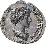 obverse: Antoninus Pius and Marcus Aurelius Caesar.  AR Denarius, 140-144 AD. Obv. ANTONINVS AVG PIVS PP TR P COS III. Laureate head of Antoninus Pius right. Rev. AVRELIVS CAESAR AVG PII F COS. Bare-headed and draped bust of Marcus Aurelius right. RIC 417 c. C. 22. AR. g. 3.38  mm. 17.50  R.  About FDC. Rare. Two magnificent portraits and superb iridescent toning. Exceptional.