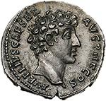 obverse: Marcus Aurelius as Caesar (139-161).  AR Denarius, 140-144. Obv. AVRELIVS CAESAR AVG PII F COS. Bare head right. Rev. PIETAS AVG. Knife, sprinkler, ewer, lituus and simpulum. RIC 424 (c). AR. g. 3.00  mm. 18.50  R.  Good EF. Rare and superb. Lightly toned.