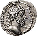 obverse: Marcus Aurelius (161-180).  AR Denarius, 166-167. Obv. M ANTONINVS AVG ARM PARTH MAX. Laureate head right. Rev. TR P XII IMP IIII COS III. Aequitas standing left, holding scales and cornucopiae. RIC 171. C. 882. AR. g. 3.61  mm. 19.00    About FDC. Virtually as struck.
