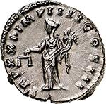 reverse: Marcus Aurelius (161-180).  AR Denarius, 166-167. Obv. M ANTONINVS AVG ARM PARTH MAX. Laureate head right. Rev. TR P XII IMP IIII COS III. Aequitas standing left, holding scales and cornucopiae. RIC 171. C. 882. AR. g. 3.61  mm. 19.00    About FDC. Virtually as struck.