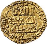 obverse: Aghlabidi. Ibrahim II ibn  Ahmad (261-289 H / 875-902). AV 1/4 dinar.    Album 448. Tarascio 14. AV. g. 1.04     EF.
