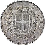reverse: Regno di Italia. Vittorio Emanuele II (1861-1878). 2 lire 1863 N.    Pag. 506. Mont. 196. AG.     Minimi segnetti sul ciglio. SPL/SPL+.