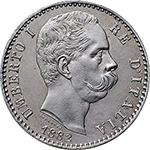 obverse: Regno di Italia. Umberto I (1878-1900). 2 lire 1882.    Pag. 592. Mont. 36. AG.      FDC.