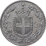 reverse: Regno di Italia. Umberto I (1878-1900). 2 lire 1882.    Pag. 592. Mont. 36. AG.      FDC.