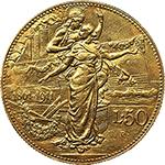 reverse: Regno di Italia. Vittorio Emanuele III (1900-1943). 50 lire 1911.    Pag. 656. Mont. 34. AU.    R.  SPL+.