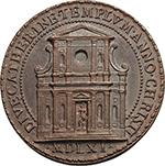 reverse: Pio IV (1559-1565), Gian Angelo de  Medici. Medaglia anno 1561 per la consacrazione della chiesa romana di Santa Caterina dei Funari.  D/ PIVS IIII PONTIFEX MAXIMVS. Busto con piviale  a sinistra. R/ DIVE CATHERINE TEMPLVM ANNO CHRISTI MDLXI (in esergo). La facciata della chiesa romana di Santa Caterina dei Funari. Spink 618. AE.   mm. 33.60 Inc. Girolamo Faccioli e Gianfederico Bonzagni. R.  FDC.