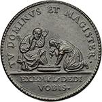reverse: Innocenzo X (1644-1655), Giovanni Battista Pamphilj. Medaglia A.VI, la Lavanda.     AE.   mm. 30.00  R. Tracce di rottura del conio al D/ SPL.