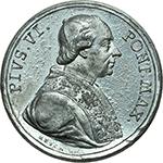 obverse: Pio VI (1775-1799), Giovanni Angelo Braschi. Medaglia 1775 per l elezione a Pontefice.     MB.   mm. 40.00 Inc. Reich. R. Piccola ossidazione al R/ SPL.