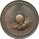 reverse: Gregorio XVI (1831-1846), Bartolomeo Alberto  Cappellari. Medaglia 1840, A.X Propaganda Fide.    Patr. 65. AE.   mm. 51.00 Inc. G. Girometti.   BB+-qSPL.