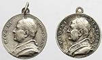 obverse:  Pio XI (1922-1939), Achille Ratti. Lotto di due medaglie devozionali.     AG/MB.      BB.