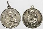 reverse:  Pio XI (1922-1939), Achille Ratti. Lotto di due medaglie devozionali.     AG/MB.      BB.