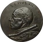obverse: Pio XII (1939-1958). Medaglia s.d.     AE.   mm. 89.00 Inc. E. Celli. R.  SPL.