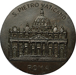 reverse: Pio XII (1939-1958). Medaglia s.d.     AE.   mm. 89.00 Inc. E. Celli. R.  SPL.