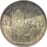 reverse: Giovanni XXIII (1958-1963). Medaglia 1963. Anno III. Per il Premio Balzan.    De Luca 307. AG.   mm. 44.00 Inc. Giampaoli.   qFDC/FDC.