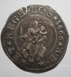obverse: GENOVA. DOGI BIENNALI, III fase (1637-1797) Mezzo Scudo 1666